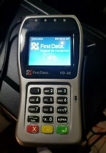 First Data Fd 40 Used Pin Pad Clover Fd40