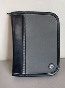 Compact 1 Rings Black Gray Durable Sport Franklin Covey Zip Planner Binder
