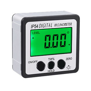 4 90 Magnetic Level Box Gauge Angle Finder Digital Lcd Protractor Inclinometer