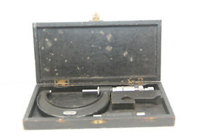 Vintage Moore Wright 2 3 Micrometer No 966 With Case