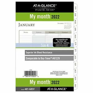2022 Monthly Planner Refill By At a glance 87229 Day timer 5 1 2 X 8 1 2 Si