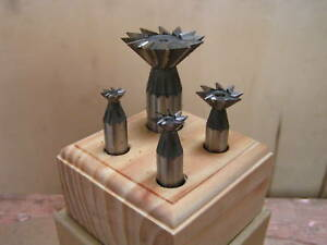 Hss Dovetail Milling Cutters 45 Set Of 4