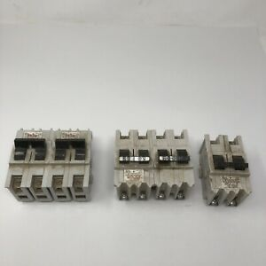 Lot Of 5 Federal Pioneer Stab lok Circuit Breakers 2 pole 15a Lr12188 20a 60a