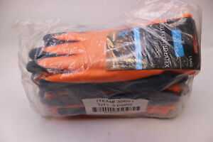 6 pairs Cordova Cold Snap Thermo Full Latex Gloves Large 432 3988