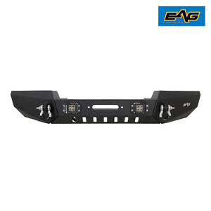 Eag Fits 99 04 Jeep Grand Cherokee Wj Modular Front Bumper W Led Lights
