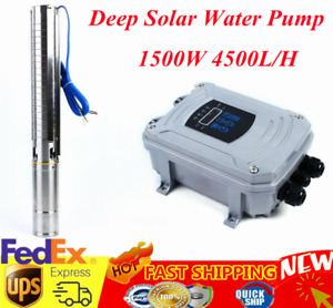 4 Dc Submersible Well Solar Water Pump Mppt Controller Kit 110v 2hp 4500l h