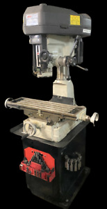 Msc 00685420 Step Pulley Mill Drill Machine Single Phase 3000 Rpm W Tooling