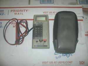 Vintage Fluke 8022 B Digital Multimeter W Lead Cables And Pouch