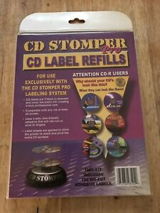 New sealed Cd Stomper Pro Cd Label Refills Kit Incl 100 Die cut Adhesive Labels