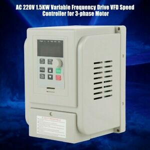 Speed Converter Variable Frequency Drive Variable 1 5kw Frequency Brand New