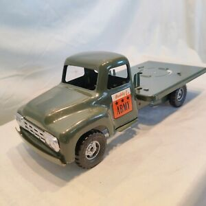 Vintage 1950s Buddy L Army Supply Corps Search Light Truck Partsrepair Nice