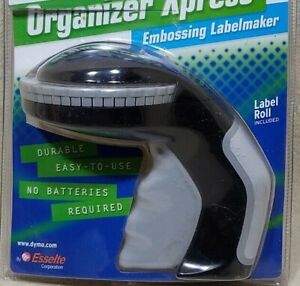 Dymo Organizer Xpress Embossing Hand Label Maker 2003 Label Roll Included 12965