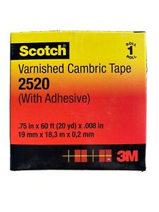 Scotch Varnished Cambric Tape 2520 3 4 In X 60 Ft Yellow