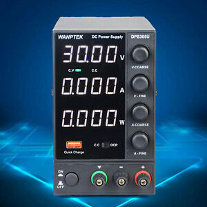 Dc Regulated Bench Power Supply Variable Adjustable Switch Digital Display Usa