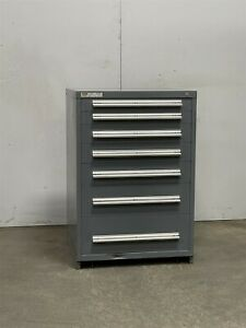 Used Stanley Vidmar 7 Drawer Cabinet 44 Inch Industrial Tool Parts Storage 2505