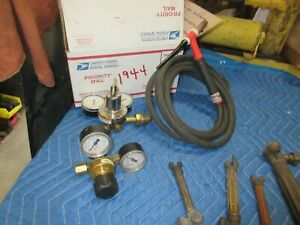 Welding Victor Tig torch Oxy Ace Gages Box 1944