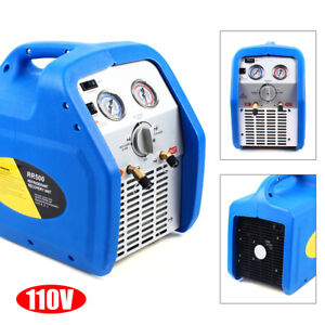 Portable Electric Rr250 Twin Cylinder condenser Refrigerant Recovery Machine