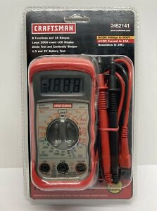 Craftsman Multimeter 34 82141 8 Functions And 18 Ranges