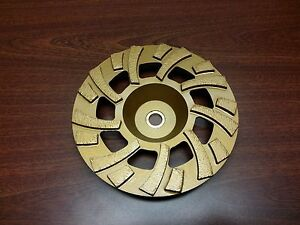 7 Diamond Grinding Wheel Fan Style For Floor Prep Or Mastic Glue Removal