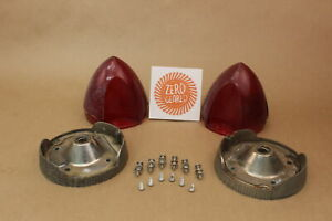 Vintage Pair Of Tail Lights Rat Rod Hot Rod Street Rod With Mounting Hardware