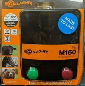 Gallagher Electric Fence Charger M160 1 6 Stored Joules New Free Shipping
