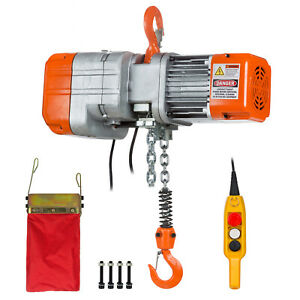 Prowinch 1 2 Ton Electric Chain Hoist Single Phase 1000 Lbs Load Capacity 20ft L