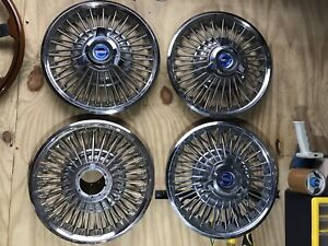 Vintage Ford Mustang Galaxie Spinner Hubcaps Wheel Covers 14 Repo