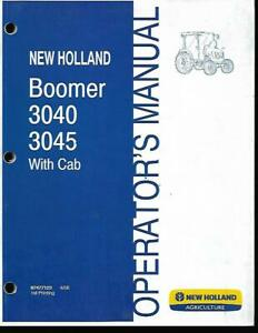 New Holland Boomer 3040 3045 Tractors With Cab Operators Manual