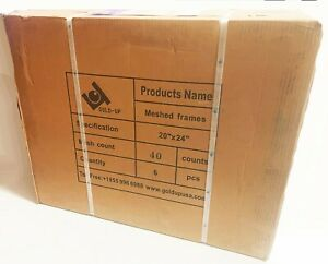 6 pack 20 X 24 Stretched 40 White Mesh Silk Screen Printing Aluminum Frames