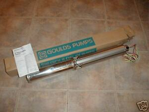 New Goulds 1 5 Hp 10 Gpm 3 Wire Brass Water Well Pump