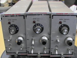 Set Of 3 Unholtz dickie 122p Charge Amplifier S