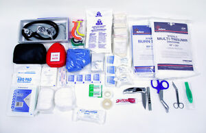 Paramedic emt firefighter Trauma Bag Initial Stock Kit