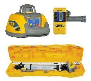 Spectra Ll100 Laser Level Package Tripod Hr320 Receiver 15 Rod Inches