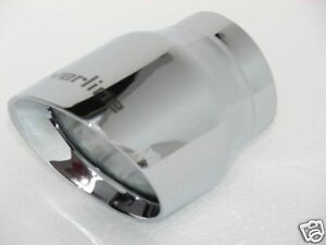 Stainless Triple Chrome Universal Exhaust Tip 2 25 Id X 3 Od 4 Long Have 2 C