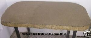 Concrete Split Granite Coffee End Table Edge Form 2