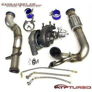 Atp Stealth Bolt On Gt3071r Turbo Kit For 03 07 Mitsubishi Evo Vii Viii Ix
