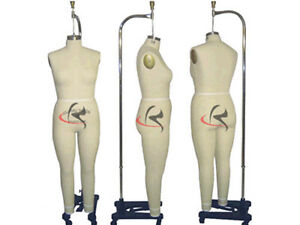 Professional Pro Female Working Dress Form Mannequin Full Size 20