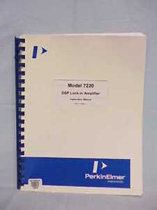Perkin Elmer 7220 Lock in Amplifier Instruction Manual