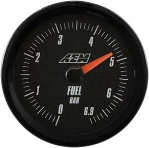 Aem Analog Fuel Pressure Gauge 6 9bar 30 5134mb