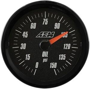 Aem Analog Oil Pressure Gauge 150psi 30 5135b