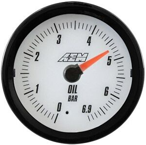 Aem Analog Oil Pressure Gauge 6 9bar 30 5133mw