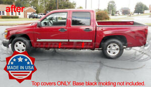 2005 2009 Chevy Colorado Canyon Crew Cab Body Side Molding Overlay Accent 4pc