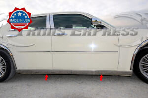 For 2005 2010 Chrysler 300 300c Extreme Lower Body Side Molding Trim Stainless
