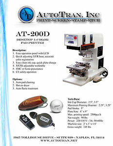 New Fully Supported 1 Color Pad Printer autotran