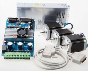 3 Axis Nema 23 Stepper Motor 287 Oz in 3 axis Driver Board Cnc Router New