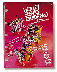 Holley 36 70 Service Guide No 1 Models 1920 1940 1945 2210 2245 5200 5210