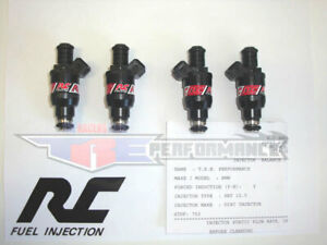 Rc 550cc Flowmatched Fuel Injectors Fit 420a 2 0l 2 4l Dohc Bosch 52lb New
