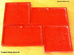 4 Tumbled Marble Brick Vertical Concrete Cement Stamps