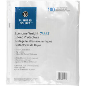 Sheet Protectors Economy Weight Semi Clear 800pk 74447