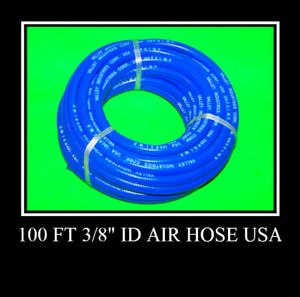 2 New 100 Ft 3 8 Id Air Hose 300 Psi Air Tool Usa